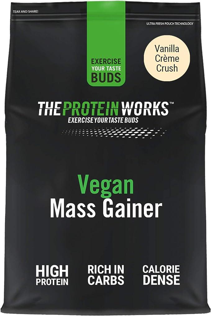 THE PROTEIN WORKS Vegan Mass Gainer | 100% a Base de Plantas | Alto en Calorías Para el Aumento de Masa | Crema alla Vainilla | 2kg