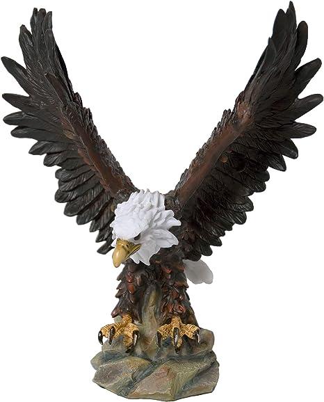 K94535 Bald Eagle Flying Statue 18 High