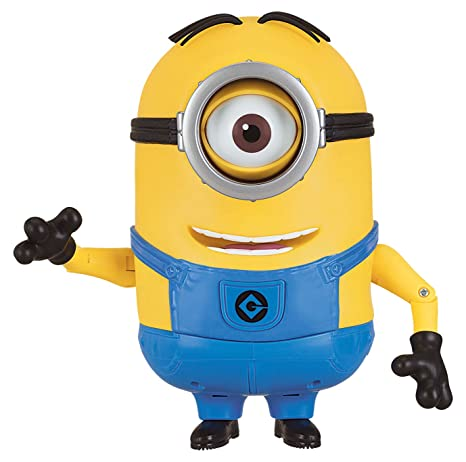 amazon com despicable me talking minion stuart toy figure toys games