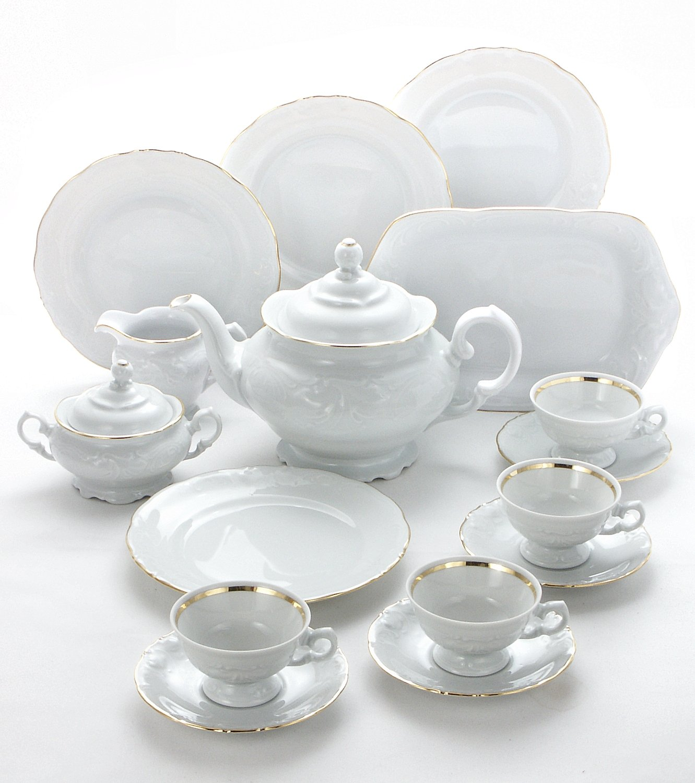 Wawel Tea with Grace 16-Piece Fine China Tea Set for Children (Elegance) - Service for Four