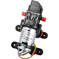 bayite 12V DC Fresh Water Pressure Diaphragm Pump with Hose Clamps Self Priming Sprayer Pump with Pressure Switch 4 L/Min 1.0 GPM 80 PSI for RV Camper Marine Boat Lawn