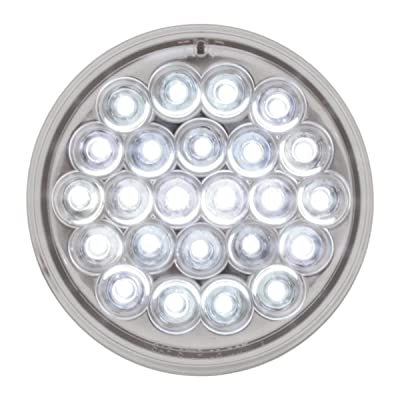 "GG Grand General 76509 4"" Round Pearl Series 24 LED Strobe Sealed Light Lens: Automotive"