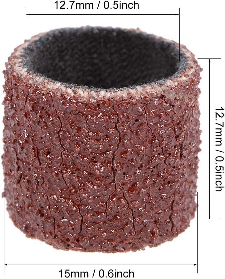 1//2 inch x 1//2 inch Sanding sleeves 80 Grains Sandpaper Belt drums 10 pieces