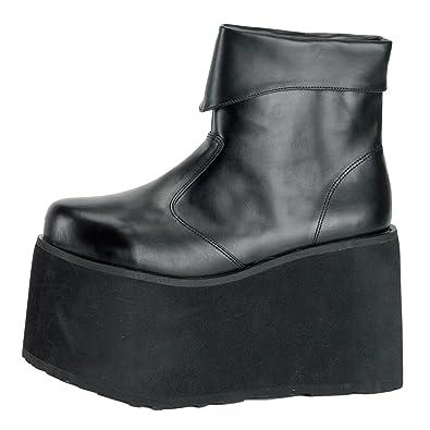 Plateau Stiefel Monster 02 Schwarz, EU XL: : Schuhe