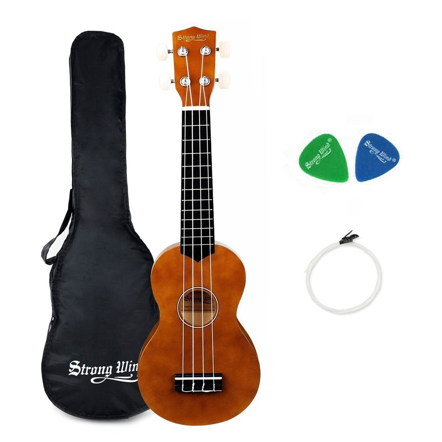 Strong Wind Soprano Ukulele 21 inch Beginer Ukulele Brown JIANGSU DAFENG INSTRUMENT CO. LTD SWUK21-30