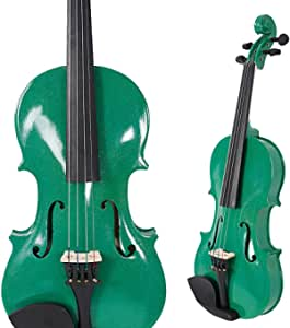 1/2 Violín Acústica verde violín Bono Libro electrónico
