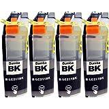 brother(ブラザー)LC211(BK/ブラック)-4本セット Bumba製互換インクカートリッジ ICチップ付き 残量表示機能付き 【1年商品保証】211-BK4
