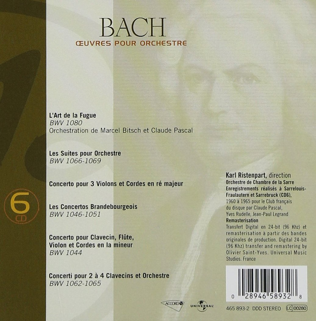 Bach J S: Orchestral Works by Musidisc