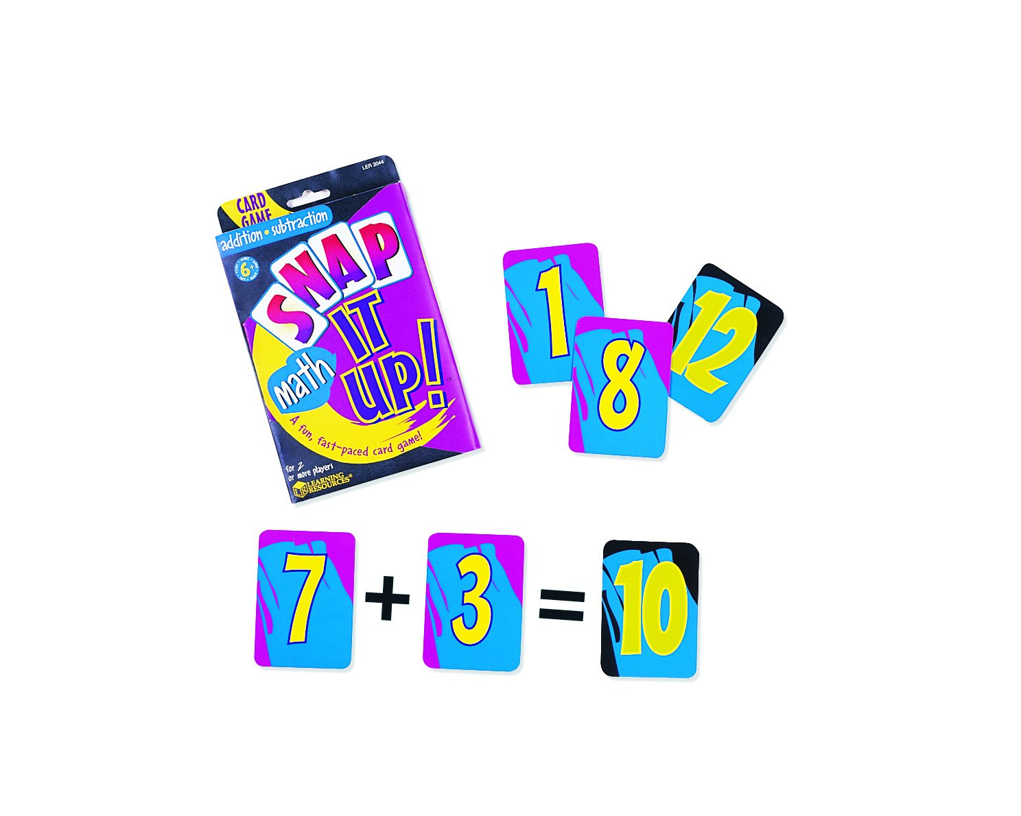 Amazon.com: Learning Resources Snap It Up! Math: Add/Sub Card Game ...
