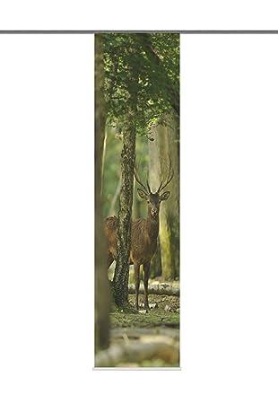 f17e4a9055f52a Schiebevorhang Deko blickdicht HELSINKI Fb. grün-braun Größe BxH 60x245 cm
