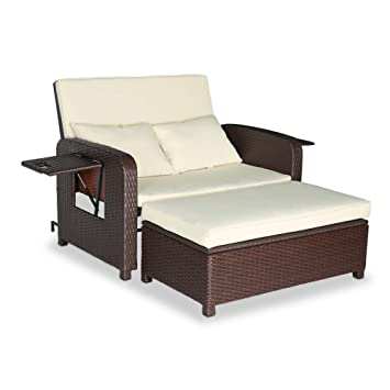 Amazon.com: Wilcum - Juego de muebles de jardín de mimbre ...