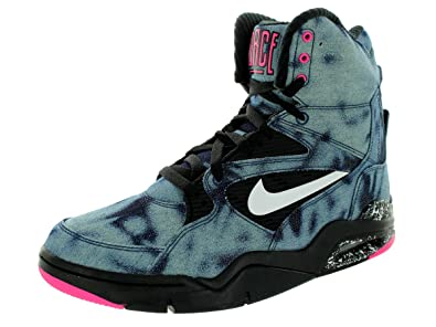 977b7a06f386f Nike Men's Air Command Force Basketball Shoe Black/White/Pink Pow 10 ...
