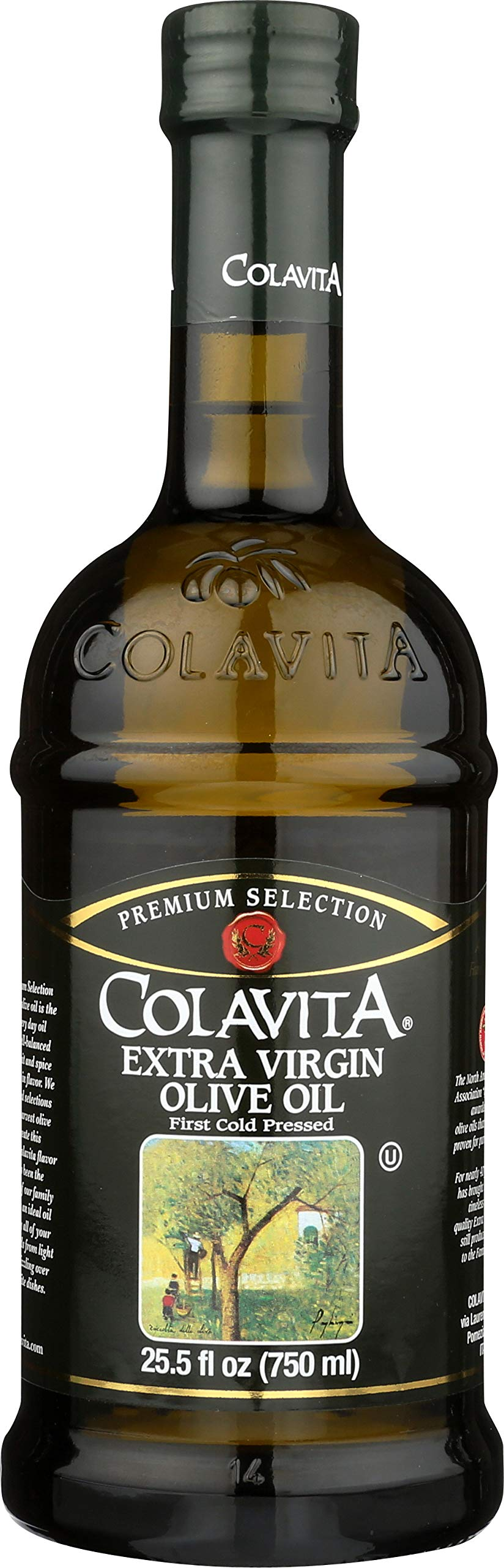 Colavita Extra Virgin Olive Oil, First Cold Pressed, 25.5 Fl Oz (Pack of 1), Glass Bottle by Colavita