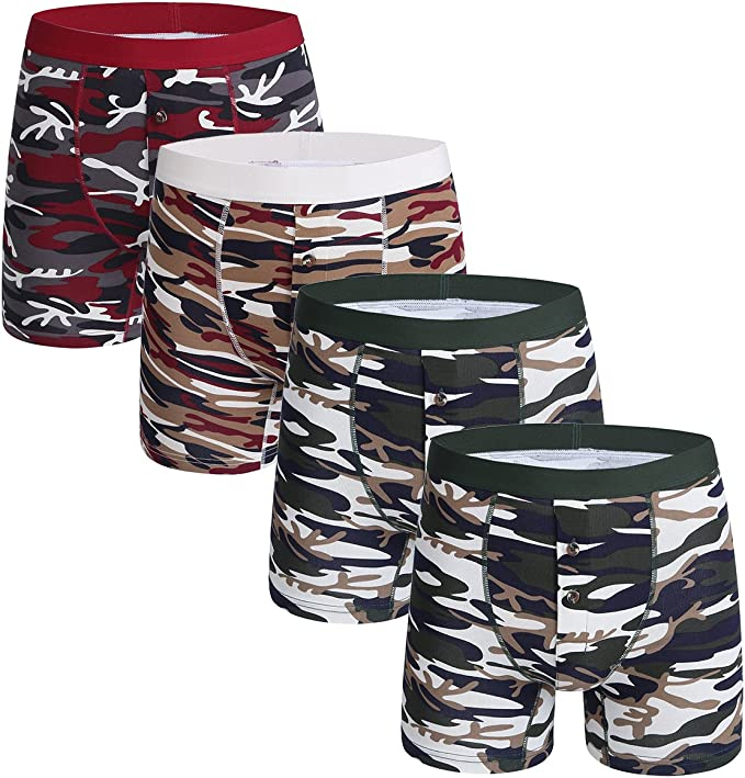 Mossy Oak Men/'s 1-Pair Camouflage Performance Boxer Brief Size S 28//30