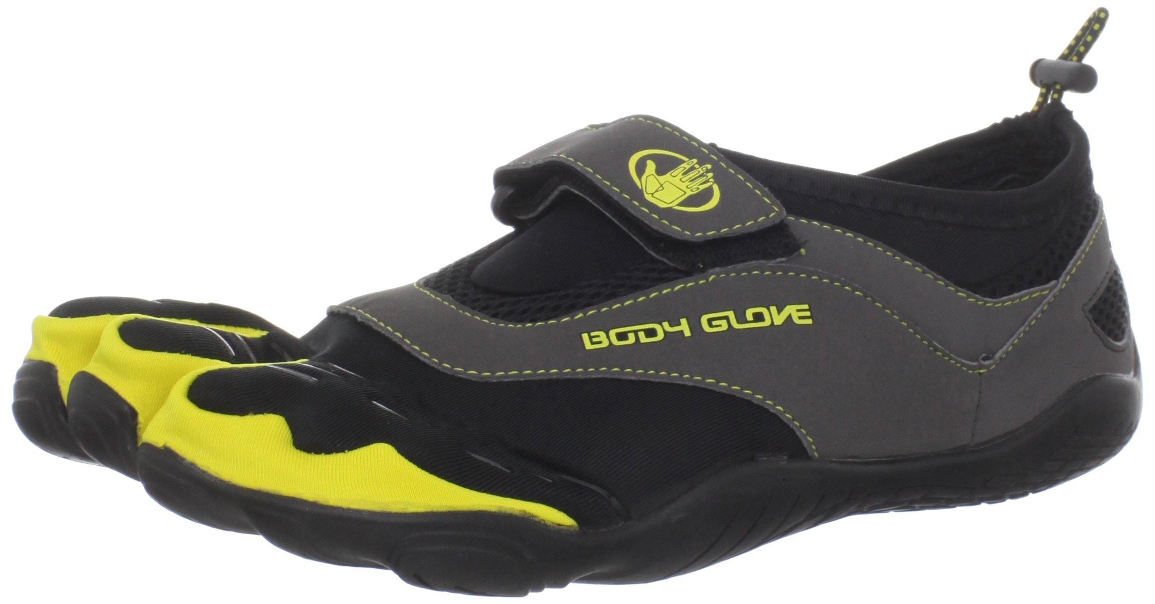 Body Glove Men's 3T Barefoot Max Water Shoe,Black/Yellow,8 M US