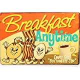 Sehaz Artworks 'Breakfast Anytime' Wall Sign (Wooden, 30 cm x 20 cm x 0.3 cm)