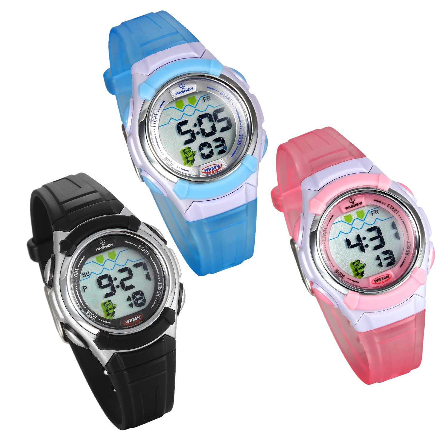 Amazon.com: Lancardo 30M Water Resistan Students Digital Sport Train Wrist Watch(3Pcs): Watches