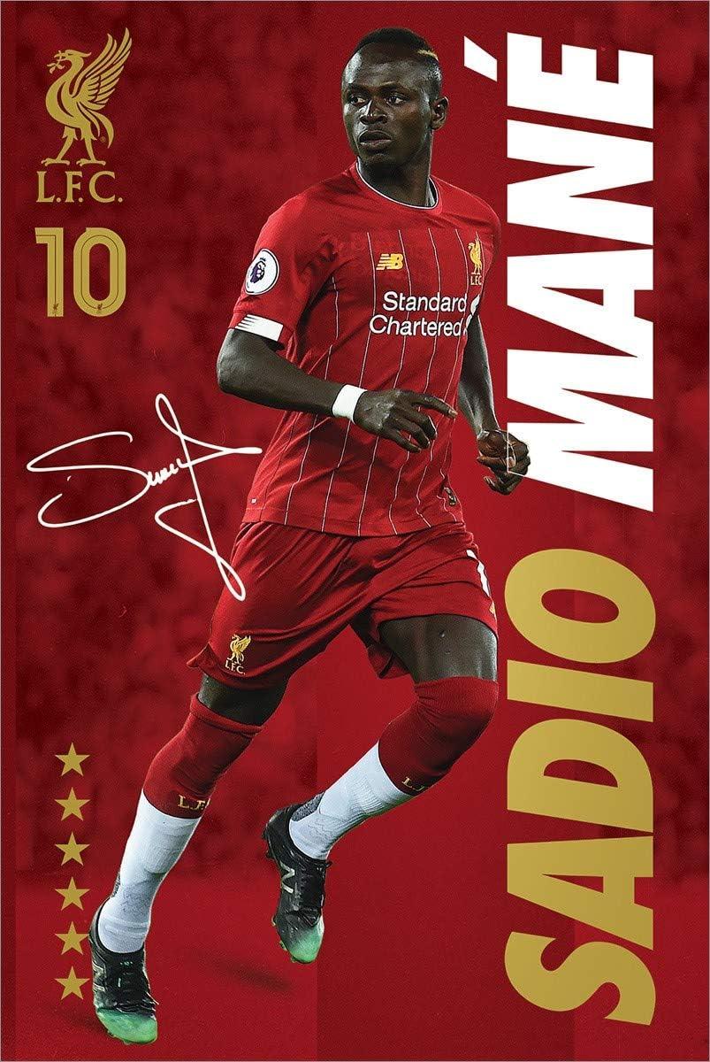 Liverpool FC Laminiert Sadio Mane Maxi Poster 61 x 91,5 cm