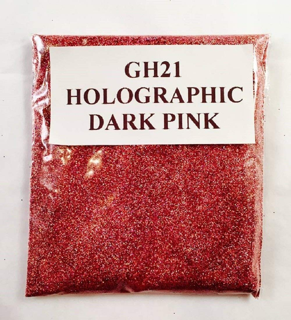 (GH21 – HOLOGRAPHIC DARK PINK 100G) GLITTER NAIL ART COSMETIC CRAFT FLORIST WINE GLASS GLITTER TATTOO N/A