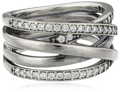 db1821885 ... Amazon.co.uk Pandora Pearl Cubic Zirconia Silver Ring - Size K  190919CZ-50 ...