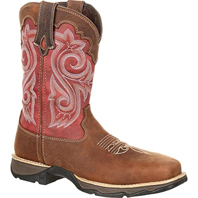 84fda3c1041 Durango Women's Lady Rebel Waterproof Composite Toe Western Work Boot