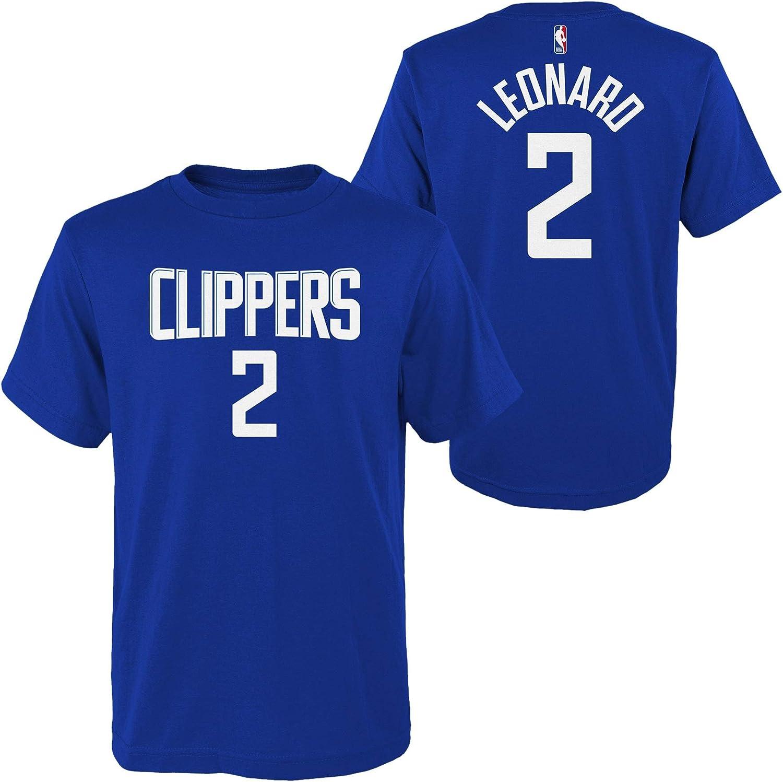 Outerstuff Kawhi Leonard Los Angeles Clippers #2 ユース 選手名と背番号 Tシャツ ブルー  Small 8