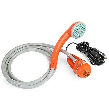 Bomba de agua y ducha manual portátil a corriente de 12 V Ivation. Transforma el