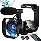 Video Camera Camcorder 4K Digital YouTube Vlogging Camera,48M 16X Digital Zoom Camcorder 3 in Touch Screen Camcorder with Mic