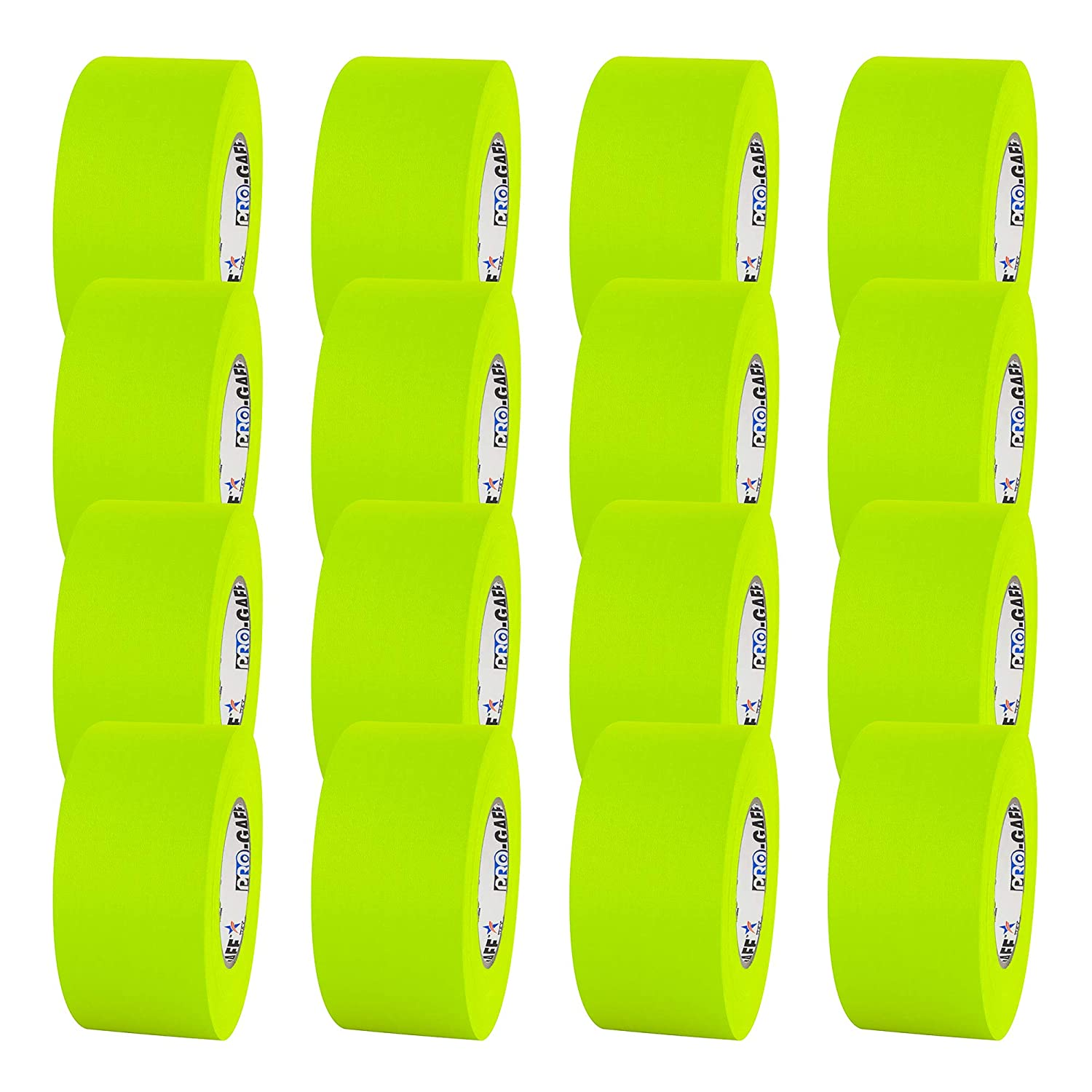 11 mils Thick ProTapes Pro Gaff Premium Matte Cloth Gaffers Tape With Rubber Adhesive 55 yds Length Pack of 1 Green 3 Width