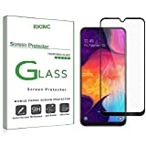 RKINC for Samsung Galaxy A20 Screen Protector, [1 Pack] Full Coverage Tempered Glass Clear Screen Protector [9H Hardness][3D Round Edge][0.33mm Thickness] for Samsung Galaxy A20, Black
