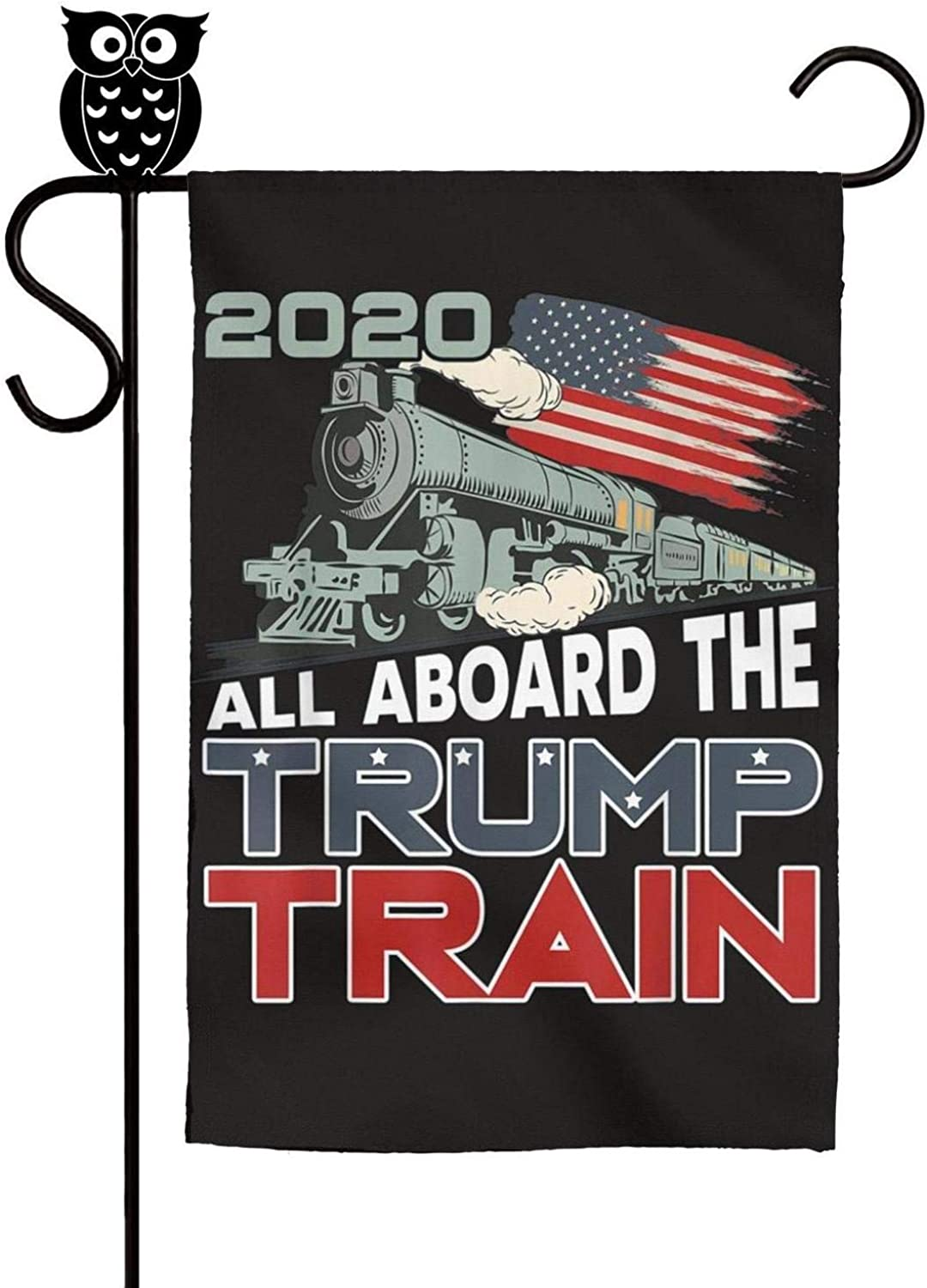 VEDOI House Flag All Aboard The Trump Train Personalized Flag 12 X 18 Inch