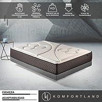 Komfortland Colchón viscoelástico Memory Vex Foam con 5 cm de ViscoProgression Grafeno, Altura 25 cm (Todas Las Medidas)