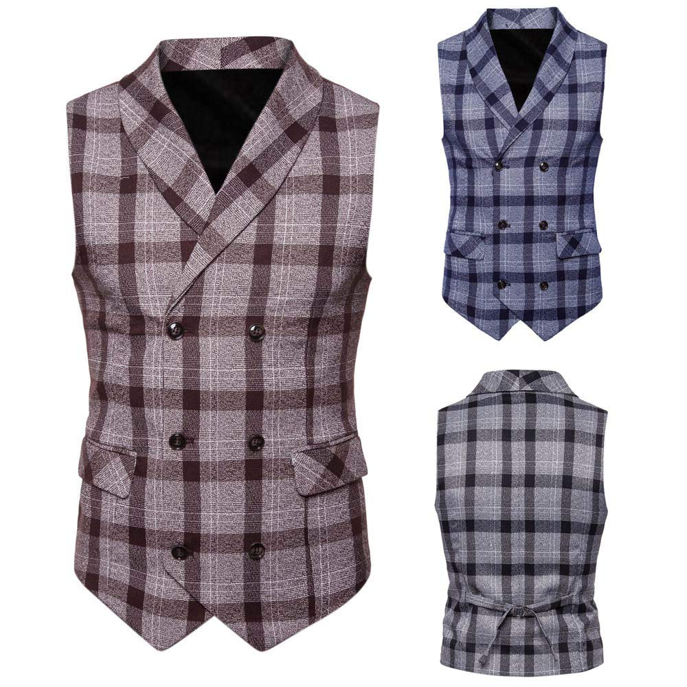 SMALLE ◕‿◕ Clearance,Men Button Casual Print Sleeveless Jacket Coat British Suit Vest Blouse by SMALLE (Image #6)