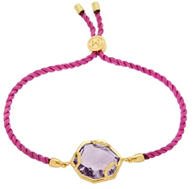 Missoma 18ct Gold Plated Astra Pink Rope Bracelet with Hydro Amethyst 7QgpxOX2