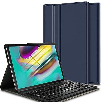 ELTD Teclado Estuche para Samsung Galaxy Tab S5e 10.5 T720/T725,[QWERTY], Protectora Funda con Desmontable Wireless Teclado para Samsung Galaxy Tab ...