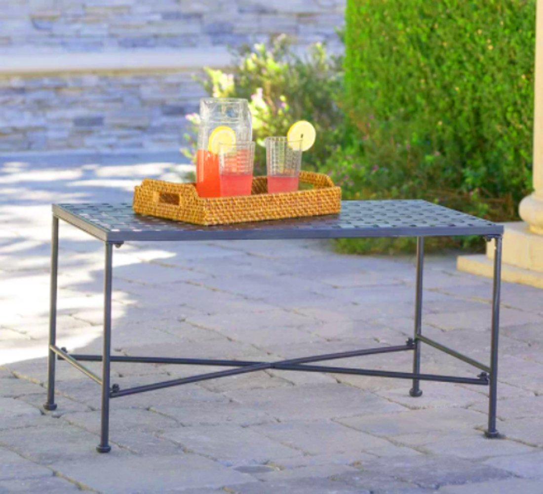 Multiuse Coffee Table, Side Table, Black Color, Metal Material, Total Decor, Practical, Wide, Multi-Purpose Durable And Sturdy, Contemporary Design, Ideal Outdoor Complement, Backyard, Patio & E-Book.