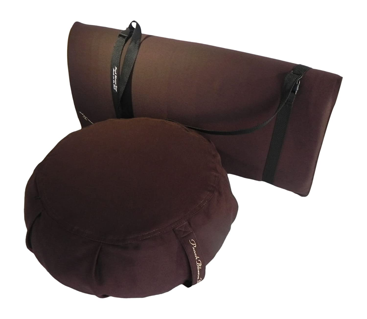 and Double Buckle Strap Zabuton Cushion 26x26 with 3 Foam Removable Covers for Easy Care Zabuton Cushion 26x26 with 3 Foam 11003-A6 Peach Blossom Yoga 3 Piece Restorative Yoga Set Includes Zafu Meditation Pillow Buckwheat Hull Filled