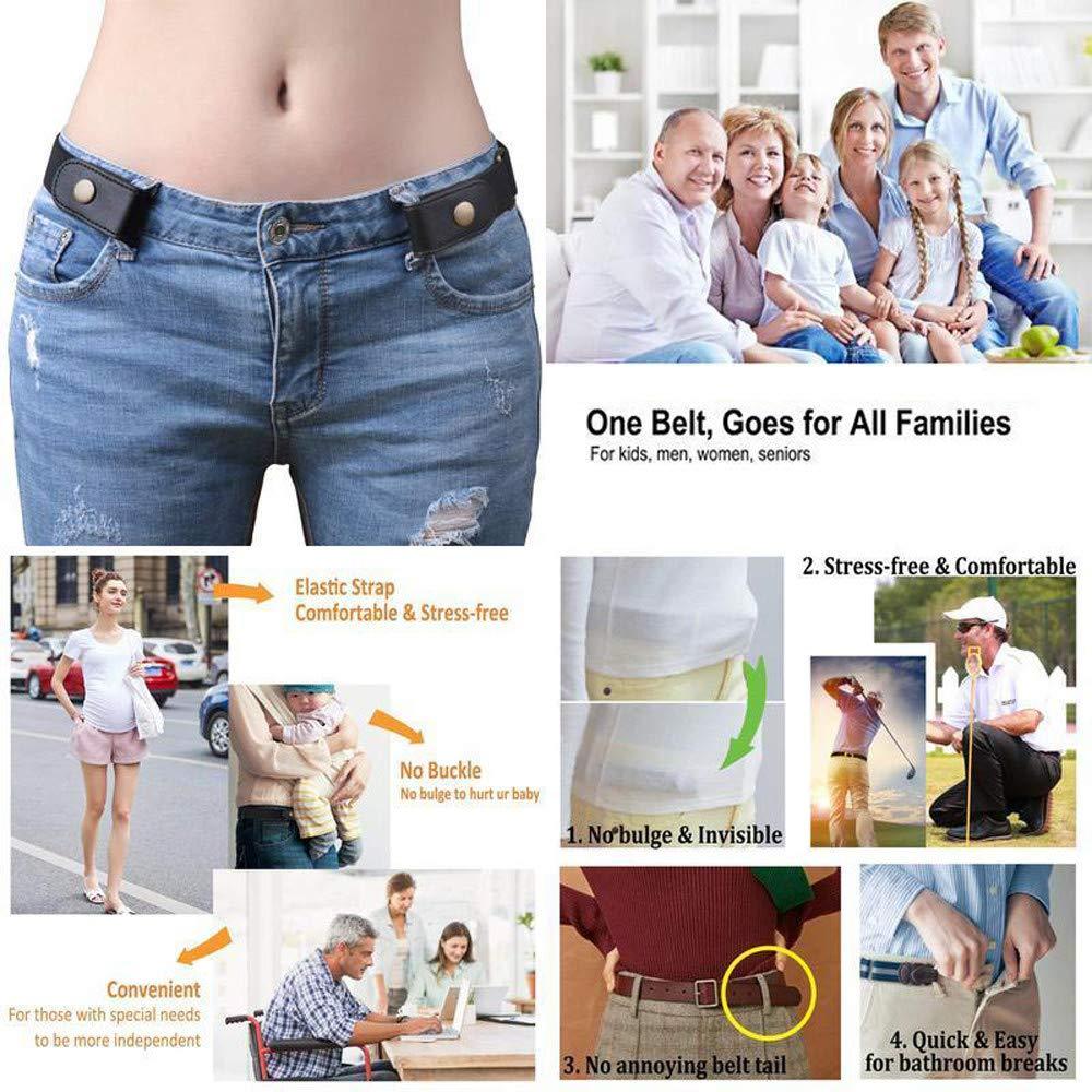 Buckle-Free Elastic Belt Women Men Comfortable Invisible Waist Belt No Bulge No Hassle Slim Fitting for Jeans Short Pants Skirt Dresses (Multicolor) by Codiak-Costume (Image #4)