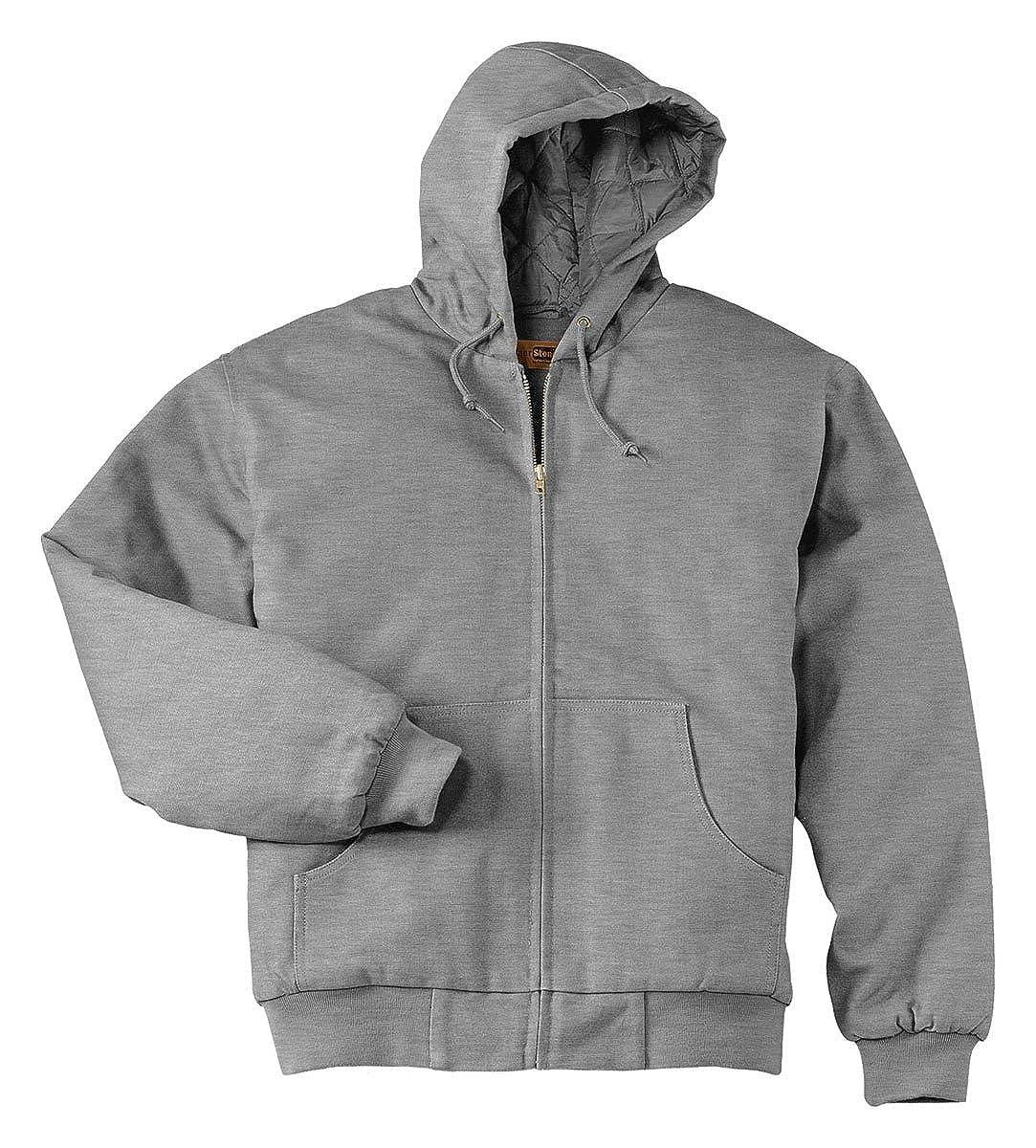 Cornerstone Mens Heavyweight Full-Zip Hooded Sweatshirt with Thermal Lining