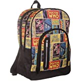 Doctor Who Retro Comic Large Backpack Back Pack Rucksack Bag - BBC DW TV Show Official Merchandise