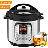 MeyKey 10-in-1 Intelligent Pressure Cooker, Slow Cooker, Rice Cooker, Steamer, Fryer, Yogurt Maker and Warmer; 6 Qt, 1000W