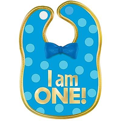 amscan 1st Birthday Boy Fabric Bib, Multicolor: Toys & Games