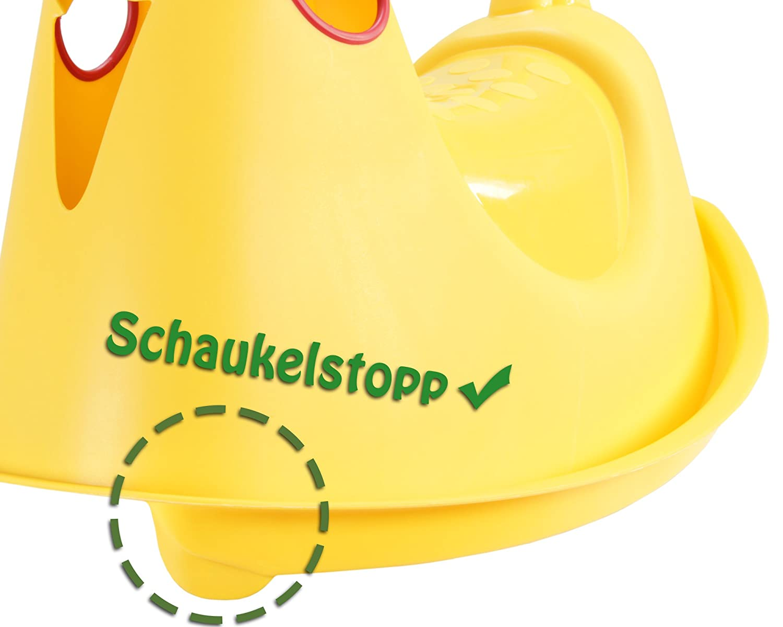 Ondis24 Wippe mit Softgriffen Küken Schaukelwippe Kinderwippe Wippschaukel gelb