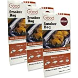Smoker Bags - Set of 3 Hickory Smoking Bags for Indoor or Outdoor Use - Easily Infuse Natural Wood Flavor