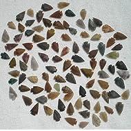 "Set Of 100 Arrowheads Agate New Replica 1/2 "" - 1 1/2 "" L"