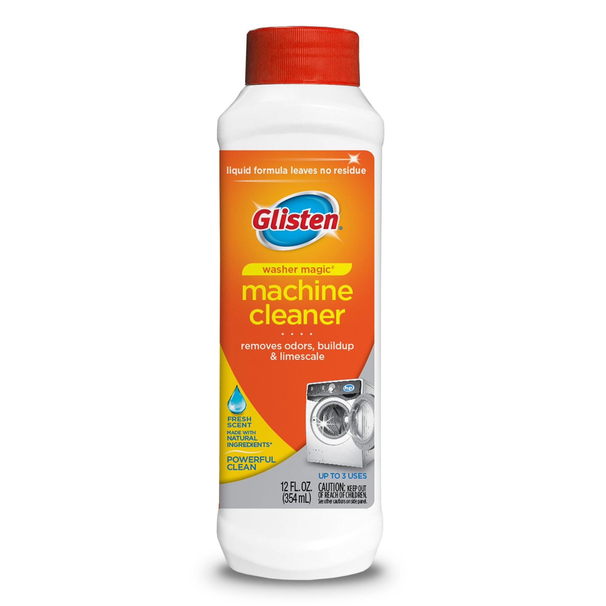 Glisten Washer Magic Washing Machine Cleaner & Deodorizer, 12 Fl. Oz. Bottle, 12 Pack by Glisten