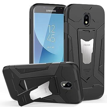 ykooe Funda Galaxy J7 2017, Samsung J7 2017 Teléfono Híbrida de Doble Capa con Soporte Carcasa para Samsung Galaxy J7 2017