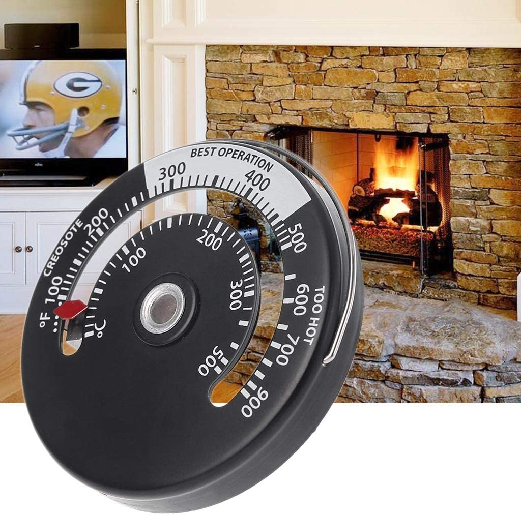Magnetic Chimney Pipe Thermometer Multi Fuel Woodstove Woodburner Stove Pipe