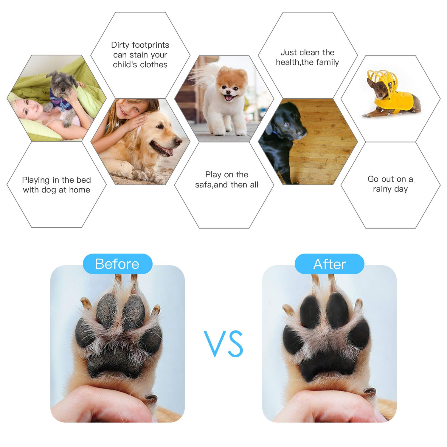 KISSIN Dog Paw Cleaner, Portable Silicone Brush Dog Paw Cleaning Cup for Dirty and Muddy Paw Cleaner-Suitable for Cat, Small and Medium Dogs