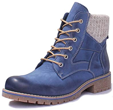 c09bf123b5e Justin Reece Ladies lace up Hiking Boot with Sock Detail Around ...